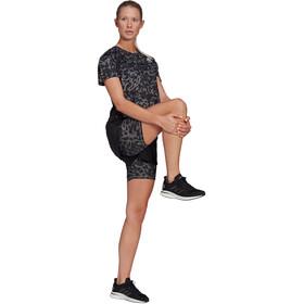 adidas Primeblue SS Tee Women, grijs/zwart